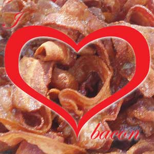 No Moss Brands Branding - I heart bacon photo