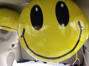 Yellow Happy Face Balloon Photo